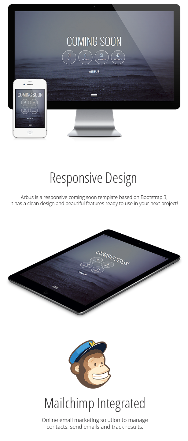 Arbus - Coming Soon Responsive Template