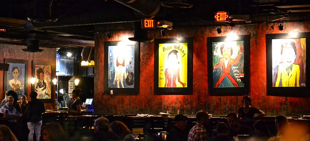 BB Kings Live Music and Dinner, West Palm Beach - artists on the wall