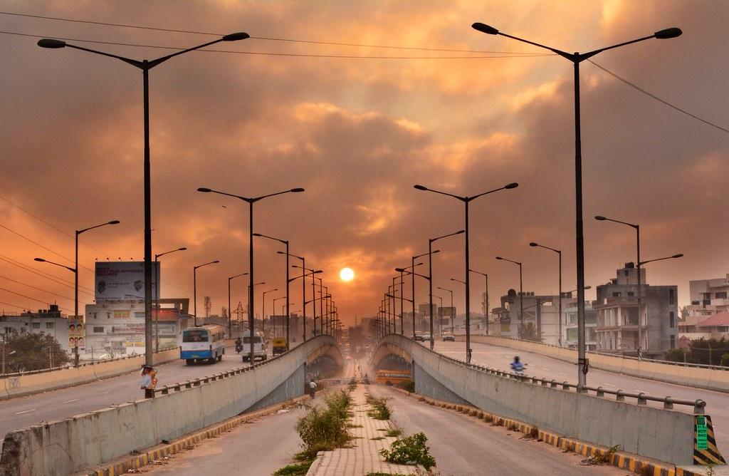 SunRise from KalyanNagar Flyover, Bangalore