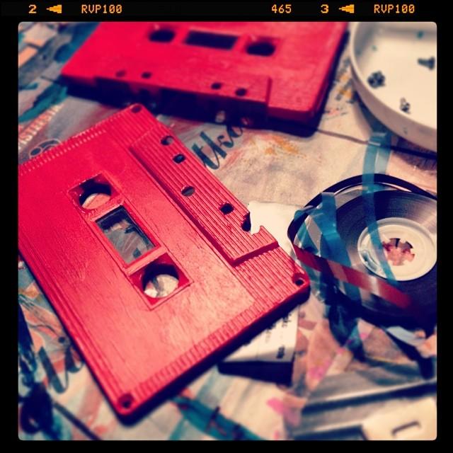 #wip #art #acrylics #ccassette #mixtape