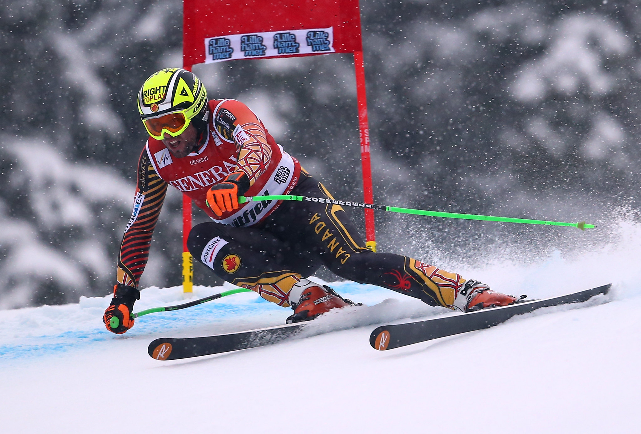 Manny rounds a gate during the Super-G in Kvitfjell, NOR