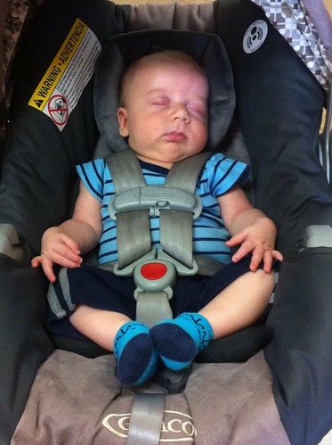 Practicing the art of Car Seat Zen! 12Mar14