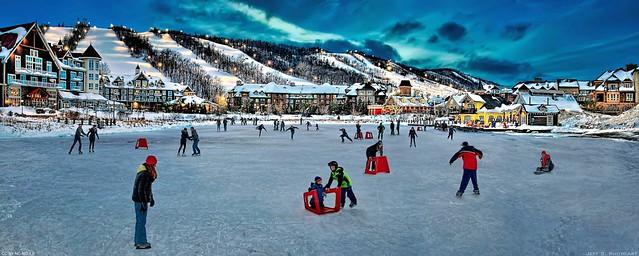 Photo:Skating fun at the mill pond By Jeff S. PhotoArt at HDCanvas.ca