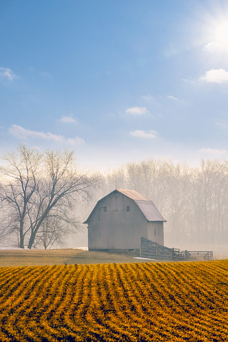 trees winter cold field barn sunrise canon landscape photography artwork soft farm indiana agriculture tamron claming 18270 mdwest michaelhuddleston artsyfartsybarn