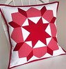 Red and White Swoon Pillow