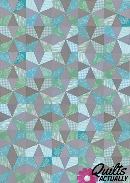 Kaleidoscope Block quilt layout