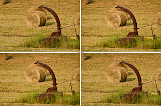Hay Rolls In The Field - Stereo