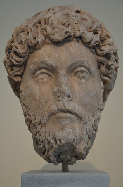 Portrait head of Marcus Aurelius, found in Athens, National Archaeological Museum of Athens