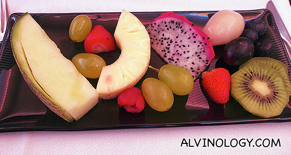 Fruit platter curated by Chef Nobu