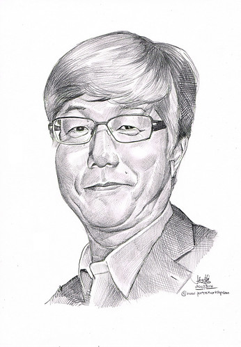 portrait in pencil for Mitsubishi