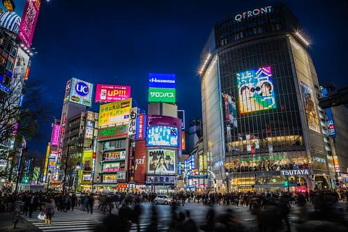Shibuya Crossing at Night // Tokyo, Japan