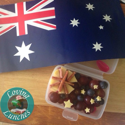 Loving a little #AustraliaDay packed in Miss M's snack box for tomorrow's brain break…