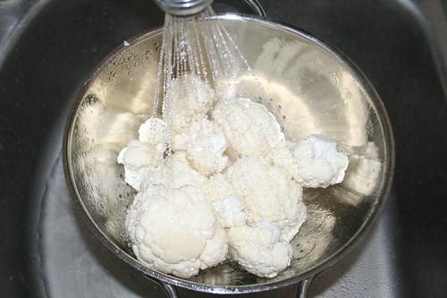15 - Blumenkohl waschen / Wash cauliflower