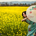 Beautiful Asian in the yellow Mustard fields of Napa by tibchris