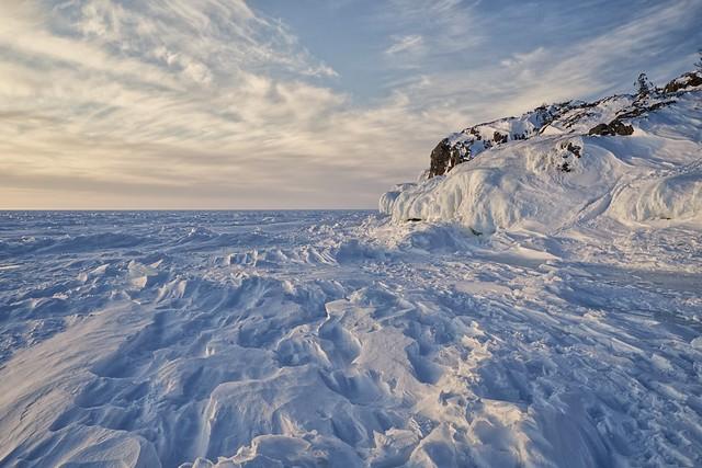 frozen whitefish bay, gros cap, ontario