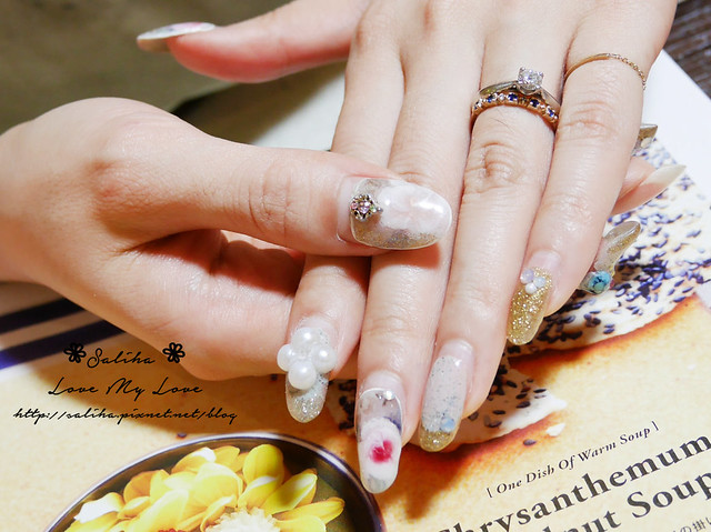台北中山站絨毛系光療指甲彩繪