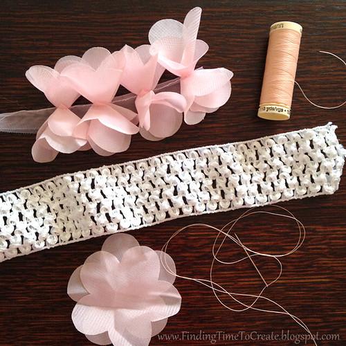 Baby headband fabric flower