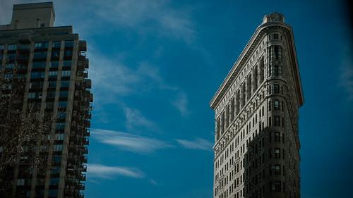 Flatiron Building from 5th Avenue at Madison Square Park, Nomad, Manhattan