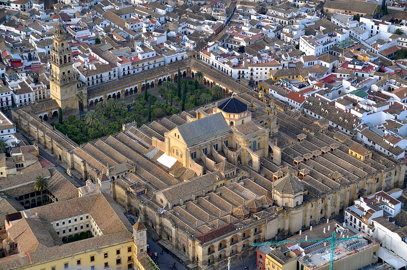 Aerial view at Mosque–Cathedral of Córdoba