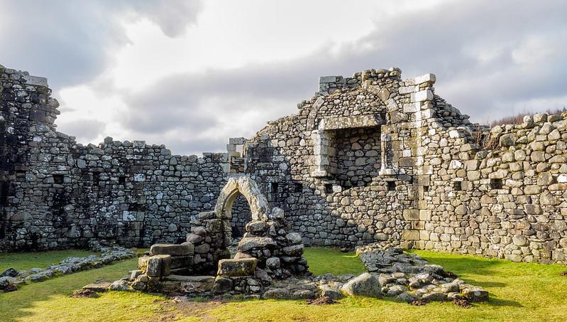 Interior Castillo de Loch Doon