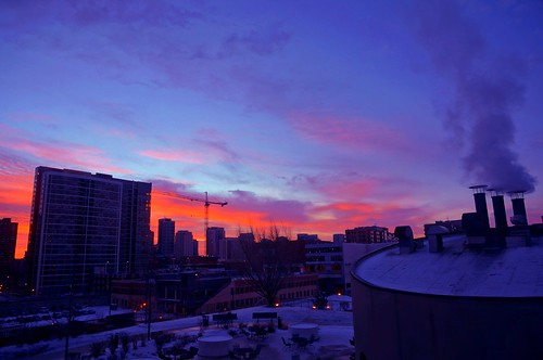 morning sky chicago clouds sunrise pw skyonfire