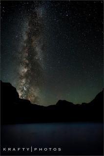 Bomber Lake at night