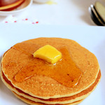 Eggless wheat flour pancakes recipe