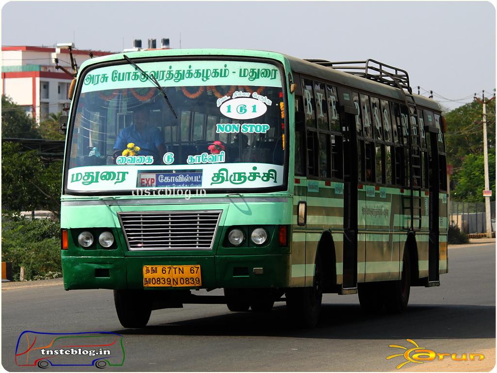 TN-67N-0839 of Sattur Depot Route Kovilpatti - Trichy via Madurai.