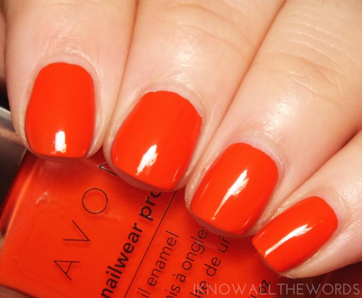 avon nailwear pro coral beat