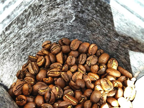 More beans just roasted and bagged for you! In the photo: Ethiopia Tencho Cooperative. Get yours today!