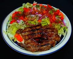 Grilled Bourbon Bison Striploin Steak