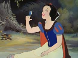 Snow White, looking like a normal woman.