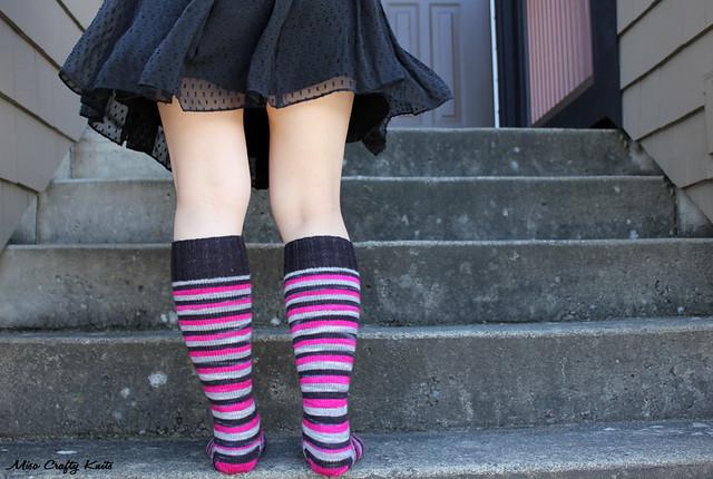 Domestic Badass Knee Socks - Back