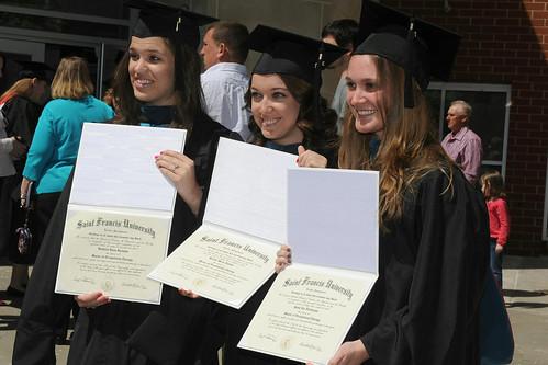 SFU Graduates with diplomas