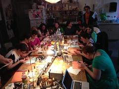 Nail art at NYC Resistor