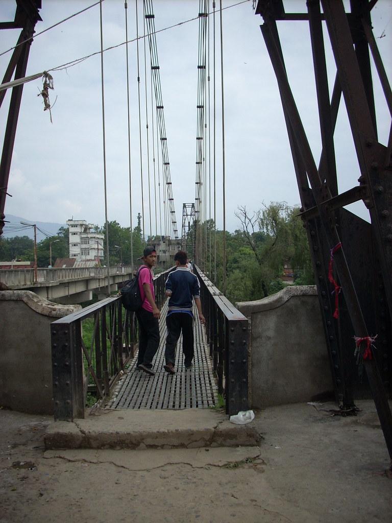 pedestrian bridge in Kathmandu