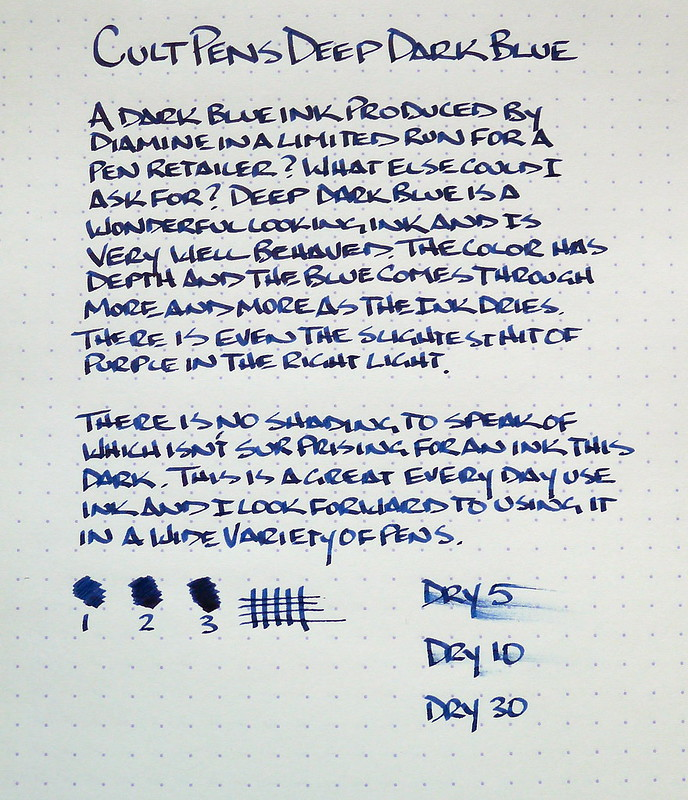 Cult Pens Deep Dark Blue