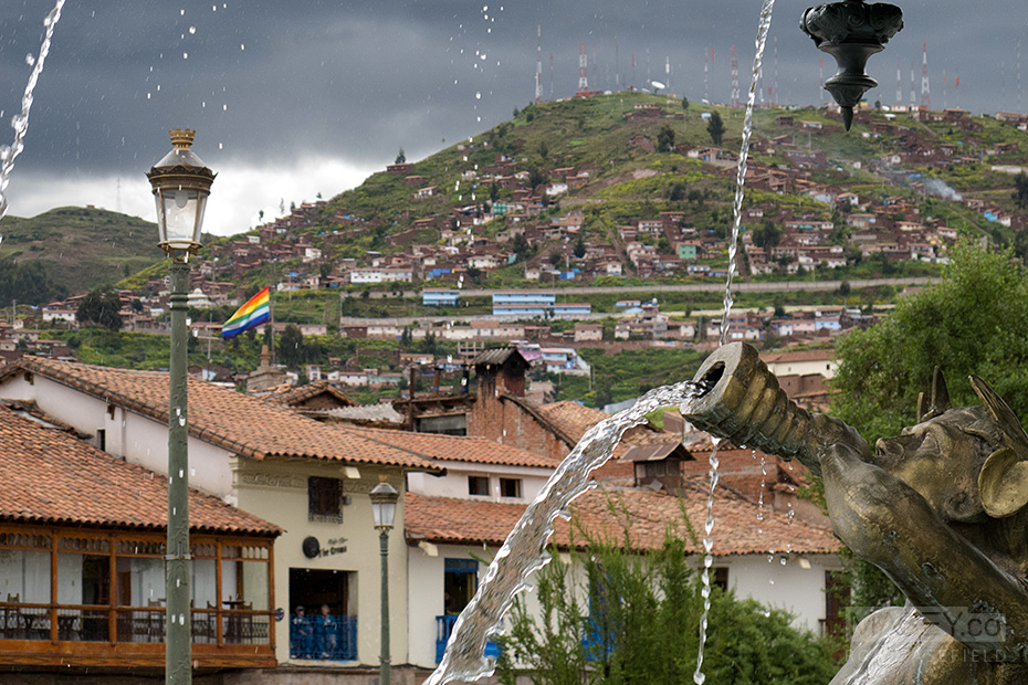 Plenty going on in Cuzco's 'Plaza de Armas'.