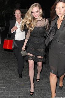 Amanda Seyfried Sheer Dress Celebrity Style Women's Fashion