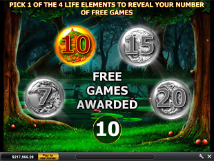 free Goddess of Life free spins feature