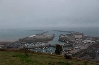 Vue sur les Western Docks de Dover