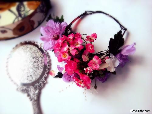 Finished DIY Floral Crown