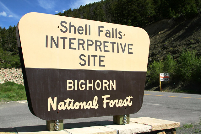 Shell Falls Sign