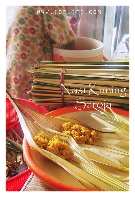 nasi kuning Saroja_bungkus