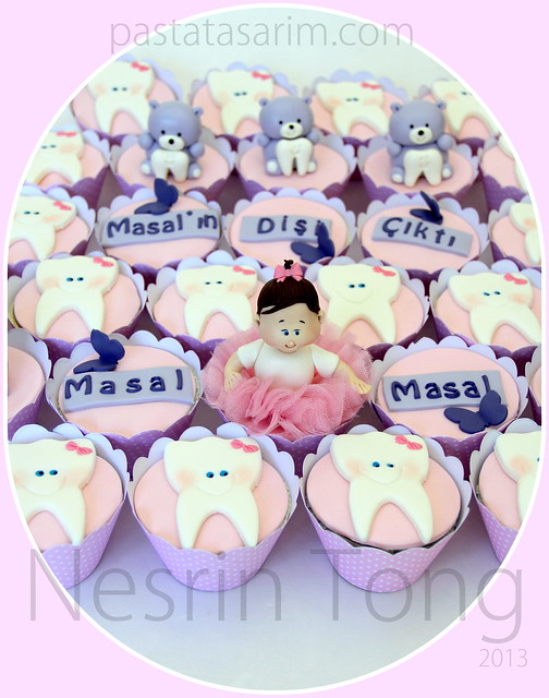 first tooth cupcakes-masal