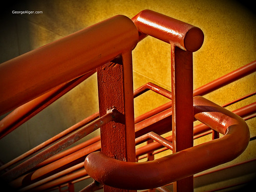 Orange Railing, by George Alger