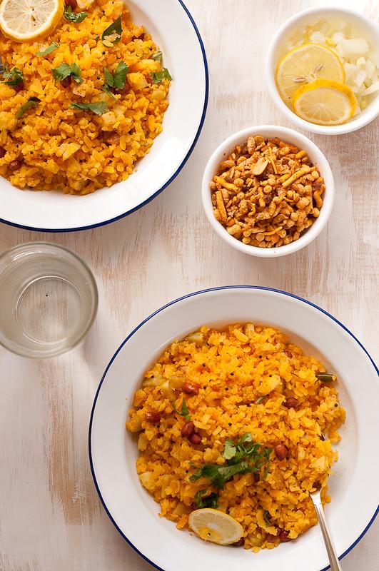 Gujarati Bataka Poha Recipe | Seven Spice