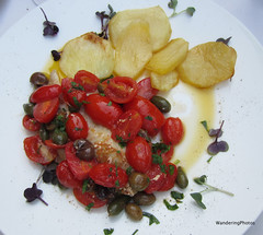 John Dory Filet with Tomatoes, olives & capers