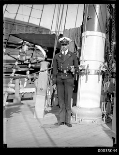 Chilean navy officer on board GENERAL BAQUEDANO