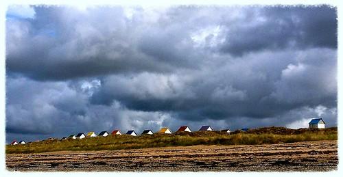 plage cabane